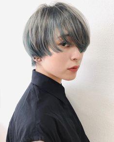 Short Pixie, Short Hair Cuts, Shot Hair Styles, Long Hair Styles, Asian Bangs, Pixie Styles, Hair Shows, Aesthetic Hair, Pastel Hair