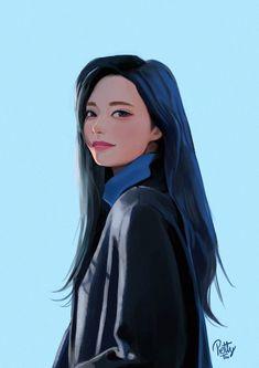 Kpop Drawings, Art Drawings Sketches, Digital Art Girl, Digital Portrait, Akira, Twice Fanart, Kpop Fanart, Character Drawing, Art Sketchbook