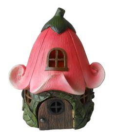 Hi-Line Gift Ltd. Fairy Lily Flower Roof Garden House Image 1 of 1 Clay Fairy House, Fairy Garden Houses, Fairy Gardening, Gnome Garden, Clay Projects, Clay Crafts, Clay Fairies, Polymer Clay Fairy, Mushroom House
