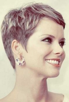 Sweet Hairstyles, Latest Short Hairstyles, Pixie Hairstyles, Hairstyles 2016, Really Short Haircuts, Short Pixie Haircuts, Pixie Cut Curly Hair, Curly Hair Styles, Pixie Cuts