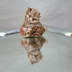 Wade Whimsie Kitten Red Rose Tea Figurine  by JanetsVintageStore, $4.00