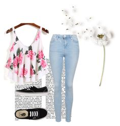 """Untitled #210"" by lollilicious11 ❤ liked on Polyvore featuring Topshop and Vans"