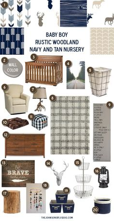 Baby Boy Rustic Woodland Nursery Inspiration
