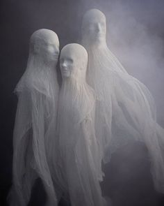 DIY Cheesecloth Spirits For Halloween