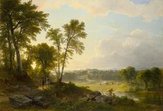 Asher Brown Durand – Wadsworth Atheneum Museum of Art 1948.119. Title: View Toward the Hudson Valley. Date: 1851