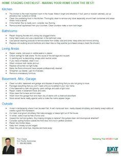 home staging checklist marketing materials pinterest. Black Bedroom Furniture Sets. Home Design Ideas