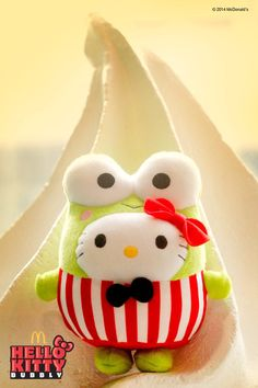 HelloKitty in Keroppi cosplay by McDonald s (  ◯  ) Sanrio Characters ca5be941428de