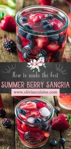 A delicious Mixed Berry Sangria made with Moscato, strawberries, raspberries, blackberries and blueberries! Just a few ingredients and this refreshing berry cocktail recipe is yours! This easy summer sangria recipe is perfect for BBQ & cookout entertaining, and also July 4th. #ad #sangria #cocktail Berry Sangria, Sangria Cocktail, Summer Sangria, Cocktails, Drinks, Sangria Recipes, Cocktail Recipes, Moscato Wine, Summer Berries