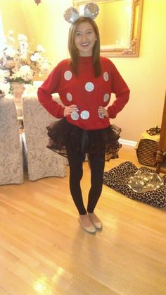 Halloween Costume DIY Minnie Mouse Disney-Okay, I'm totally doing this this year! :) You might be a princess but check me out I will be rocking our school!! @Lydia Squire Squire Squire Greene