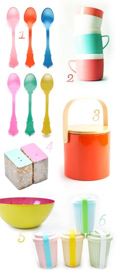 Technicolor kitchen tools