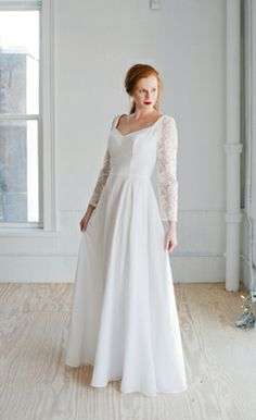 astrid wedding dress elegant silk gown with wide v neck stunning beaded lace