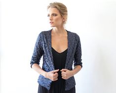Sequin blue open Jacket with long sleeves, Long sleeves sparkling jacket 2014 Jean Parfait, How To Dress For A Wedding, Perfect Jeans, Glamour, Have A Beautiful Day, Sequin Top, Satin Fabric, Nice Dresses, Sequins