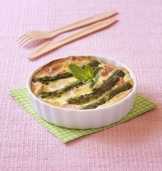 Clafoutis aux asperges et jambon blanc - les meilleures recettes de cuisine d'Ôdélices