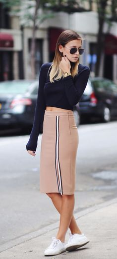 c8ba23b84 Danielle Bernstein is wearing a nude skirt from Zara and the top is from  Whistles Skirt