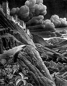 Castrovalva by MC Escher, 1930
