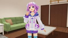 Megadimension Neptunia VIIR 'Battle' and 'Everyday VR Event' gameplay