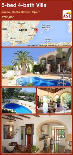 5-bed 4-bath Villa in Javea, Costa Blanca, Spain ►€795,000 #PropertyForSaleInSpain