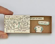 Lustige Karte zum Valentinstag / Missing you Karte /Thinking