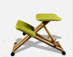 89.00$  Watch now - http://alibt8.worldwells.pw/go.php?t=32667828793 - Ergonomically Designed Kneeling Chair Green Fabric Cushion Modern Office Computer Chair Ergonomic Posture Knee Chair  Design 89.00$