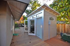 Like this 8x14 Studio Shed?  Build yours in our online interactive 3D Configurator. Click on the picture above to learn more.   storage | backyard | retreat | garden | shed | guest bedroom | guest room | home office | indoor-outdoor | media | music | music room | prefab studios | retreat | studio | studio shed | modern | modern cabin | kids play | contemporary | garden | yard | ideas