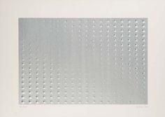 """Enrico Castellani [Italy] (b 1930) ~ """"Untitled"""", 1995. Extroflexion on paper. 