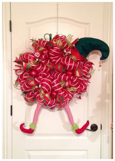 Elf Deco Mesh Wreath