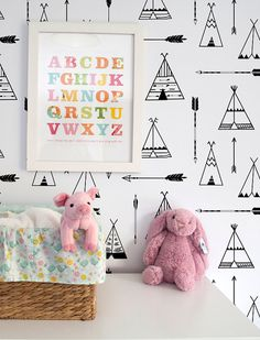 Removable Wallpaper Teepee wallpaper Teepee by BCMagicWallpaper kids bunk