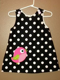 Items similar to Girls Little Birdie Dress size 5 available on Etsy - Kindermode Toddler Dress, Toddler Outfits, Kids Outfits, Little Dresses, Little Girl Dresses, Girls Dresses, Baby Dress Patterns, Kids Frocks, Baby Sewing