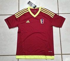 NWT ADIDAS Venezuela National Team 2015 Soccer Jersey Youth Large