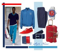 """""""Blue game and red accents"""" by stylebydd on Polyvore featuring Clarks, Billionaire, Simonnot Godard, Vivienne Westwood, Lands' End, Invicta, men's fashion, menswear, mensstyle and invicta"""