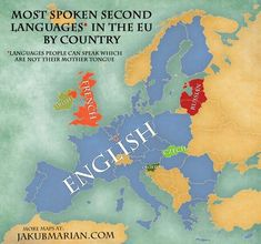 Most spoken second languages in the EU.