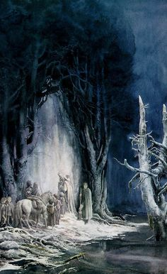 Alan Lee's Lord of the Rings Artwork / the doors of durin