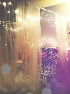 I would sleep so much better if I had a canopy of fairy lights overhead!