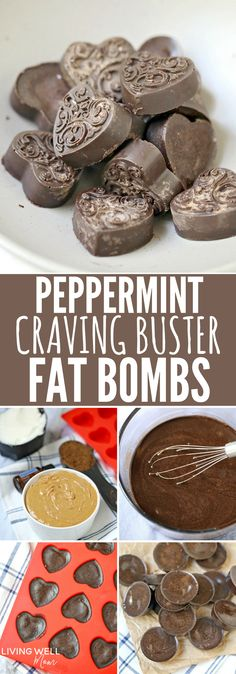 """Peppermint Craving Buster Fat Bombs - these simple 4-ingredient fat bombs are quick & easy to make and can help reduce sugar cravings. They're so delicious, it's hard to believe they're sugar-free, dairy-free, and Paleo! Get 2 sets of instructions - one for """"immediate cravings"""" and another if you want to make a larger batch."""