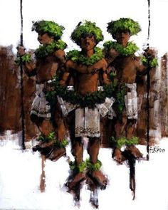 From the exciting and dazzling dancers to the beautiful children and ethnic cultures that inhabit these islands, the works of Alfred Fur. Polynesian Dance, Polynesian Designs, Hawaiian Dancers, Hawaiian Art, Tahiti, Beautiful Children, Maui, Culture, History