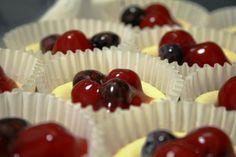 red, white, & blue mini cheesecakes