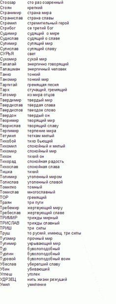 Родные, древние Славянские имена - 22 Июля 2017 - Наша Планета
