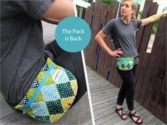 Tutorial y patrón iBook Fanny Pack Pattern, Pouch Pattern, Purse Patterns, Sewing Patterns, Free Pattern, Sewing Hacks, Sewing Tutorials, Sewing Projects, Sac Vanessa Bruno