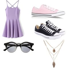Untitled #49 by mayizquierdo13 on Polyvore featuring polyvore fashion style Converse