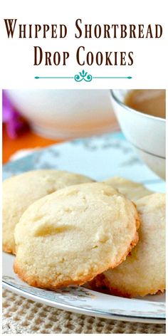 Whipped Shortbread Drop Cookies can have a different flavor and appearance every time you make them. The possibilities are endless, and simply delicious. via /https/://www.pinterest.com/BunnysWarmOven/bunnys-warm-oven/