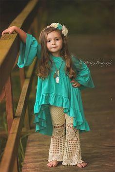 DollBaby Tunic Boho Turquoise PREORDER