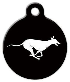 Running Greyhound - Custom Pet ID Tag for Dogs and Cats - Dog Tag Art -- To view further for this item, visit the image link.