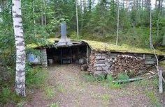 Finnish Laavu or forest hut/shelter