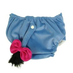 Eeyore diaper cover. SQUEE!!!!!!!!!!!!!!!!! This makes me want to buy like 10 of them and try cloth diapering with Munchy!