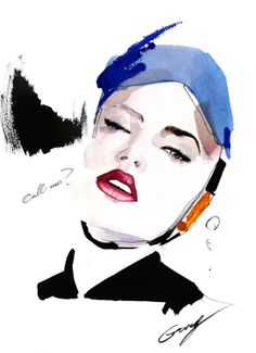 Garytu's fashion illustration on the Adweek Talent Gallery