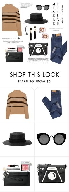 """""""a coffee kind of day"""" by riennise ❤ liked on Polyvore featuring Topshop Unique, Cheap Monday, rag & bone, Quay, Bobbi Brown Cosmetics, Martha Stewart, Karl Lagerfeld and Lizzie Fortunato"""