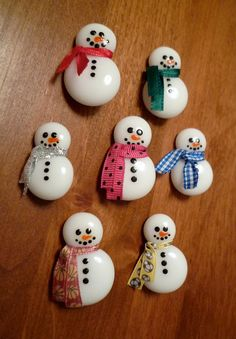Fused Glass Snowman Pin