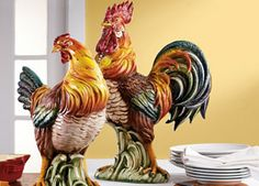 decorating with roosters and sunflowers | Sunday Style – Country French Kitchens | Celebrate and Decorate