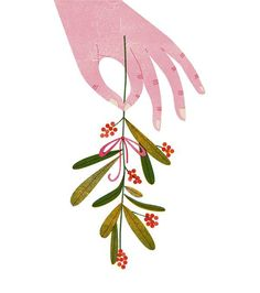 Barbara Dziadosz is a freelance illustrator from Hamburg, Germany with the loveliest style. People Illustration, Plant Illustration, Hands Holding Flowers, Cute Christmas Wallpaper, Christmas Plants, Flower Phone Wallpaper, Photography Illustration, Art N Craft, Collage