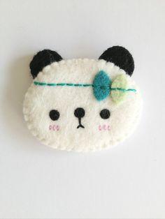 Kawaii panda brooch, cute panda brooch, felt panda, panda accessories on Etsy, $11.07 AUD